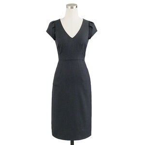 J CREW Director Dress, Super 120 Wool, Navy, sz 2
